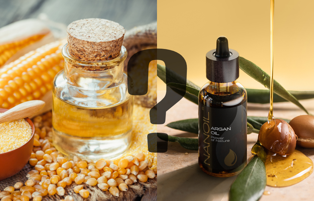 corn oil and argan oil nanoil
